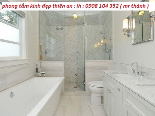 phòng tắm kính đẹp để có không gian đẹp tại quận 6 hcm